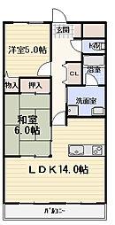 ガーデンステージ[3階]の間取り