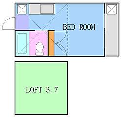 ベイヒルズ大基(1〜3)[1階]の間取り