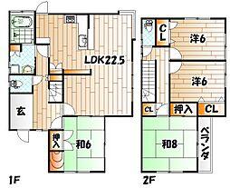 [一戸建] 福岡県北九州市戸畑区一枝3丁目 の賃貸【/】の間取り