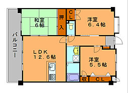 第3元木ビル[4階]の間取り