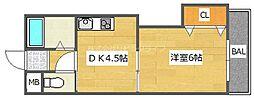 プロミネンス下村[2階]の間取り