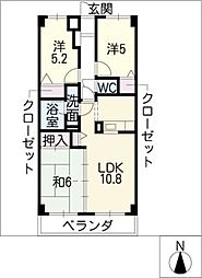 レジデンス砂子[3階]の間取り