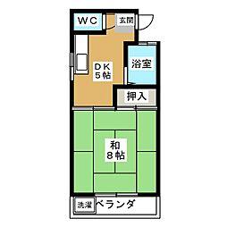 コーポ黒沢台3[1階]の間取り