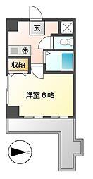 イヅミマンション[4階]の間取り