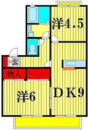 モアクレールヒメカ[1階]の間取り