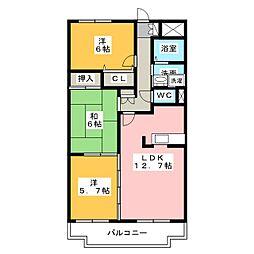 プレサージュ K[3階]の間取り