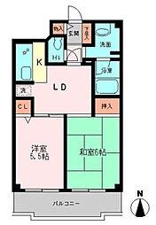 ベルコート町田[4階]の間取り