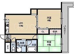 ミッドガルド倉本[2階]の間取り