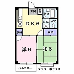 エルディム藤ニュータウン2[2階]の間取り