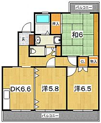 シルクガーデン[303号室号室]の間取り