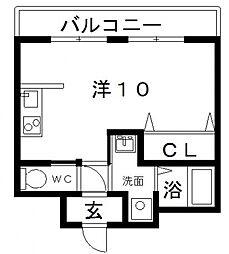 ベージョフロレスタ松崎町[4階]の間取り