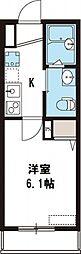 NKハウス[205号室号室]の間取り