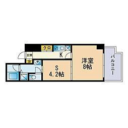 Jigyo HIKARI terrace 6階1SKの間取り