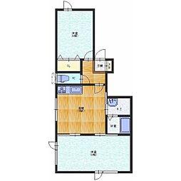 松風町14番アパート[2号室]の間取り