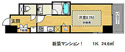 ジェイキューブ神戸[6階]の間取り
