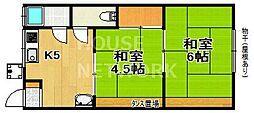 西開荘[201号室号室]の間取り