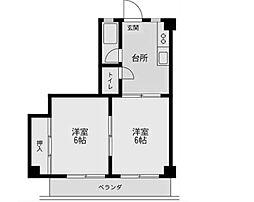 ドウェルミサワ[1階]の間取り