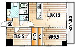 KSK門司港コアプレイス[5階]の間取り