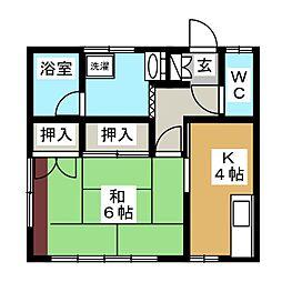 サンハイツミウラII[2階]の間取り