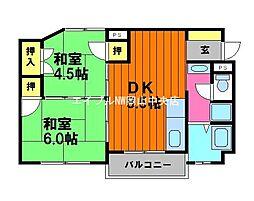 トングウマンション[3階]の間取り