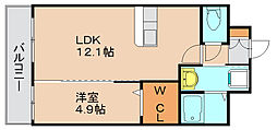 シャルマン土井II[3階]の間取り