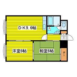 北海道札幌市東区北二十一条東6丁目の賃貸マンションの間取り