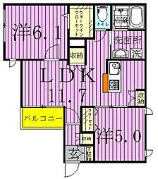 Maison de Mum〜メゾンドマム〜[201号室]の間取り