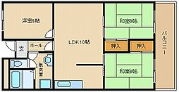メゾンド玉手[3階]の間取り