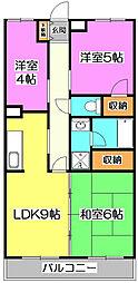 ウッディハイム[3階]の間取り
