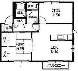 ウエストフィールドA〜G棟[E-202 号室号室]の間取り