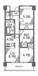 アルビオ北新横浜[4階]の間取り