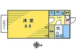 アティックナイン[2−B号室]の間取り