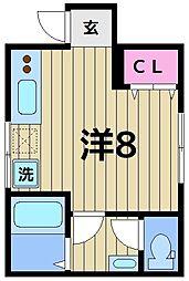 (仮称)中川4丁目アパート 1階ワンルームの間取り