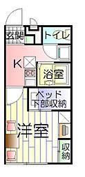 東京都足立区保木間1丁目の賃貸アパートの間取り