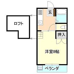 筑波コーポ[2階]の間取り