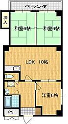 ステーションパレス京都[4階]の間取り