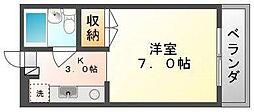 岡山県岡山市北区大学町の賃貸マンションの間取り