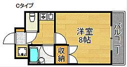 オアシス羽倉崎I[4階]の間取り