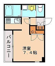 ローズモントフレア六本松[4階]の間取り