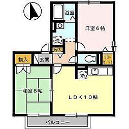 ミキカメディアマンション A棟[102号室]の間取り