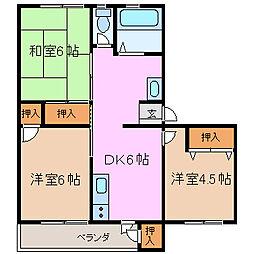 湯川ビル[101号室号室]の間取り