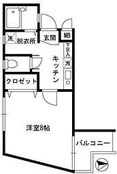 東京都江東区亀戸5丁目の賃貸マンションの間取り