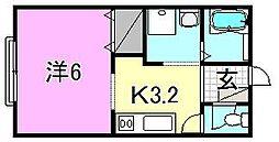 椿荘[102 号室号室]の間取り