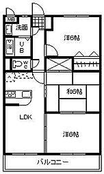 サンコート大島[B303号室]の間取り