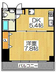 シボラ六条高倉[2A号室]の間取り