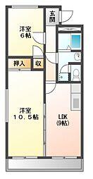 伊勢スカイマンション[3階]の間取り