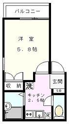 コンフォート子安[201号室]の間取り