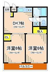エミネンストヨダ[3階]の間取り