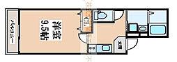フジパレス湊2番館[1階]の間取り