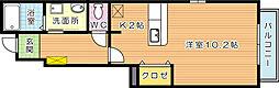 ブローテMYII[1階]の間取り